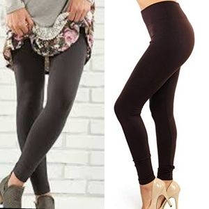 Pants - Brown high waist fleece lined leggings